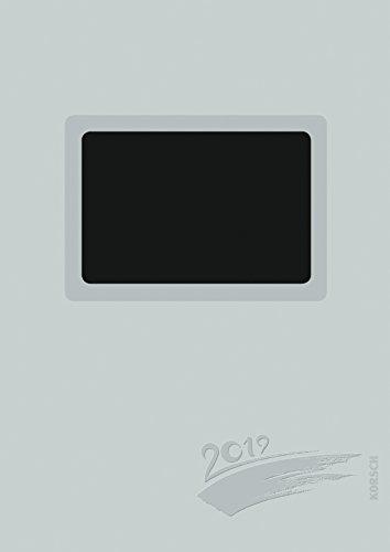 Foto-Malen-Basteln A4 silber gestanzt mit Folienprägung 2019: Kalender zum Selbstgestalten