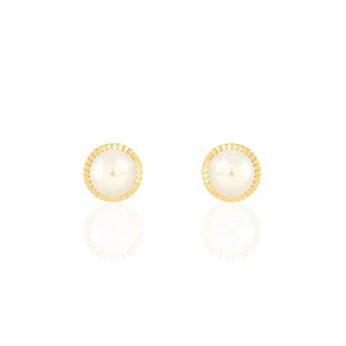 Stroili Orecchini in Oro Giallo 9 kt e Perle Bon Ton Referenza 1400971