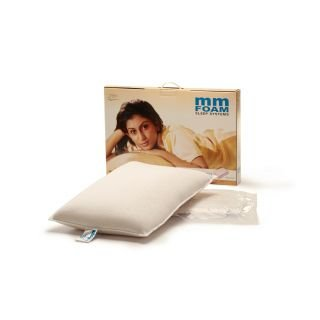 MM FOAM Rubber Twin Pillows (6 x 8, White)