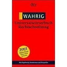 (Wahrig) Universalwörterbuch Rechtschreibung