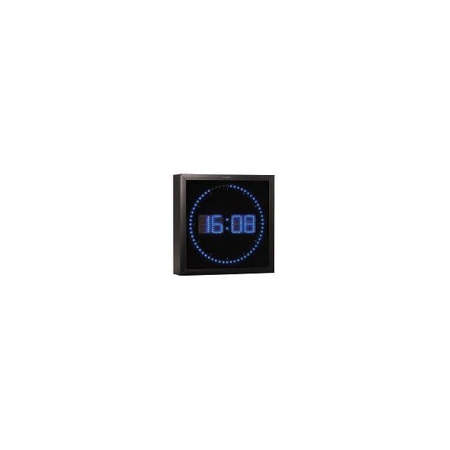 ba0e7c76065bcf Lunartec Grande Horloge Murale LED Rouge avec indications des Heures ...