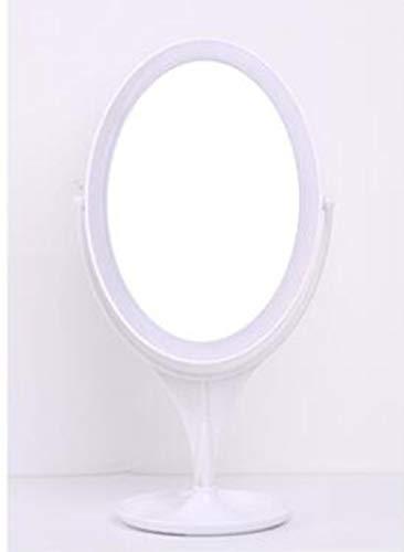 XIAHE Ordinateur De Bureau 360 Degrés Pivotant Pliant Beauté Maquillage Miroir Miroir De Bureau À Simple Face LED Miroir Grossissant Lumière De Remplissage Miroir Pliant Multifonctionnel