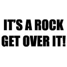 Su un Rock Get over it. Adhesivo para parachoques de bicicletas, coches y furgonetas con adhesivo FREE P y p
