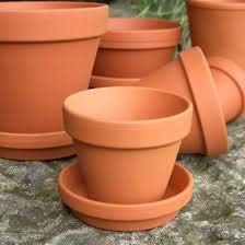 Village Decor Terracotta/Clay Money Plant Container with Bottom Tray  B*H   5 * 4 inch
