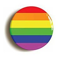 RAINBOW BADGE BUTTON PIN (Size is 1inch/25mm diameter) LGBT GAY PRIDE DIVERSITY PEACE by Pin It On -