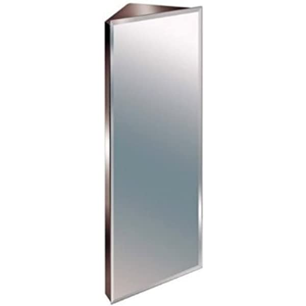 900mm Stainless Steel Mirror Bathroom Corner Cabinet Amazon Co Uk Kitchen Home