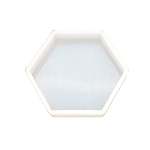 Silikonform, Kristall, Basteln, Epoxidharz, achteckig, Tischform, Spiegelform, Gypse Kerze, fortschrittliche Dekoration für Auto, Aromatherapie, weiß