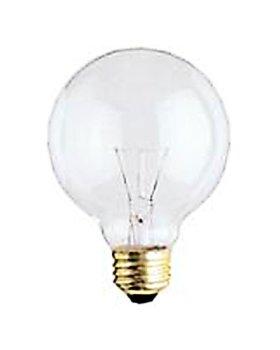 bulbrite 331040–40g25cl3–25W G25Globe Glühbirne, klar, lang Life 130Volt