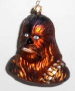 Radko Star War 's Chewbacca Aufhängen Glas Ornament