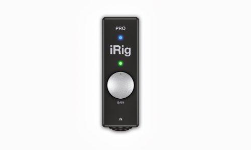 IK Multimedia iRig PRO Interface audio/MIDI pour iPad/iPod Touch/iPhone Noir