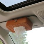 RISHIL WORLD Car Sun Visor Hanger Tissue Box Paper Napkin Bag with 83g Napskins(Brown)