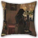 throw-cushion-covers-of-oil-painting-anna-ancher-an-old-woman-in-her-room-20-x-20-inches-50-by-50-cm