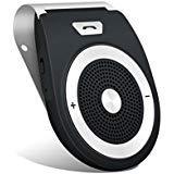Best Bluetooth Car Speaker Phones - Car Speakerphone Bluetooth 4.1 Visor Handsfree In-car Kit Review