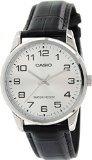 CASIO Herren-Armbanduhr Analog Quarz Leder MTP-V001L-7