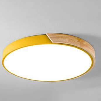 QCKDQ LED-Lampe, runde kreisförmige LED-Deckenleuchte, moderner minimalistischer Stil, für Kinderzimmer/Schlafzimmer/Arbeitszimmer/Schule,Whitelight,50cm - Kreisförmige Lampenschirme