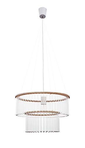 Pani Jurek Maria SC double test tubes chandelier, glass, transparent, natural, 47 cm x 47 cm x 110 cm -