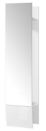 Garderobenpaneel Wandgarderobe Flurgarderobe MIRAMAR 1   Weiß matt   Weiß Hochglanz
