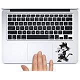 Goku Kamehameha Dragonball Bedruckter Aufkleber aus Vinyl, für Apple MacBook Pro Air 27,9 cm (12 Zoll), 13 Zoll (38,1 cm), alle Jahre Laptop, Tastatur, Tastatur 13