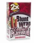 Blunt Wrap Double Platinum Parfum de baies de 15 Paquets Par Trendz