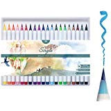 Best Brush Tip Markers - Brush Pens Set - 20 Colours Review