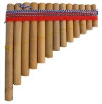 PAN PIPES GENUINE PERUVIAN FLUTES IN BAMBOO 17cm x 13cm MADE IN PERU
