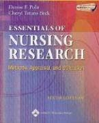 Essentials of Nursing Research: Methods, Appraisal, and Utilization (Essentials of Nursing Research (Polit)) by Denise F. Polit PhD FAAN (2006-01-01)
