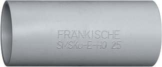 Preisvergleich Produktbild Fränkische Kunststoff-Steckmuffe SMSKu-E-H0 32 f. FPKU-EM-F-H0 FPKu-EM;FPKu-ES;isofix-EL Muffe für Installationsrohre 4013960180329