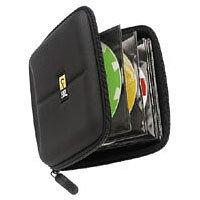 Case Logic CD/DVD Wallet Hartschalen-Aufbewahrungstasche für 24 CDs/DVDs schwarz Case Logic Dvd