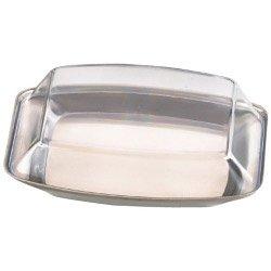 Zodiac acier inoxydable Beurrier avec couvercle en plastique transparent