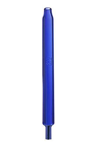 Kaya Shisha Blue Color Stick, Ersatzmundstück aus Glas in blau für Wasserpfeifen, Länge: ca. 25cm
