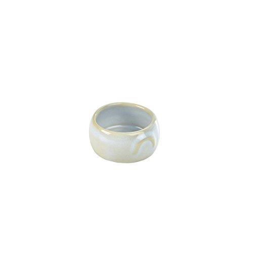 Genware nev-bp-wh3Terra en céramique, rustique pot Beurre, 3oz/90Ml, Blanc (Lot de 12)