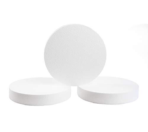 Silverlake Schaumstoffscheiben - 3 Stück 30,5 x 5,1 cm EPS Polystyrol-Kreise zum Basteln, Modellieren, Kunstprojekte und Blumengestecke - Skulptur Blätter für DIY Schule und Home Art Projekte 3pack -