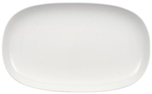 Villeroy & Boch Urban Nature Piatto da Portata, 42 x 25.5 cm, Porcellana Premium, Bianco