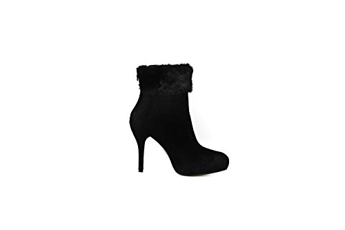 Scarpe stivali donna MISS SIXTY N.39 tronchetto nero camoscio X276