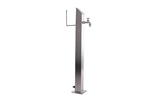 KTC Tec Wassersäule SQS 1030 mm Edelstahl MIT Schlauchhalterung Gartenschlauch Zapfsäulen Schlauchhalter