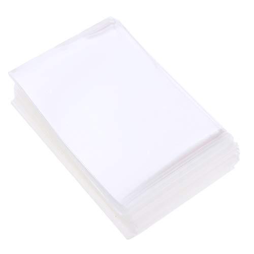 Sharplace 100pcs / Pack Mangas de Tarjeta Protector Transparente 60x90mm
