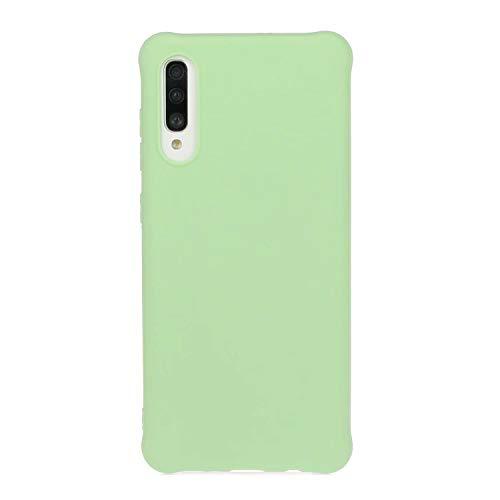 KSHOP Kompatibel mit Hülle für Samsung Galaxy A70s Ultradünne Soft Silikon TPU Schutzhülle Tasche Case Cover Anti-Rutsch-Grün