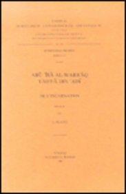 Abu'isa Al-Warraq, Yahya'adi. de L'Incarnation: V. (Corpus Scriptorum Christianorum Orientalium) par E Platti