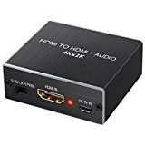 LiNKFOR HDMI Audio Extractor Converter/HDMI to Optical TOSLINK SPDIF with 3.5 mm Stereo