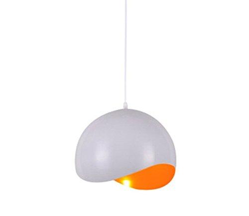 Nordic Kronleuchter Moderne Anhänger Beleuchtung Minimalistischen Originalität Persönlichkeit Kreative Halbkreis Eierschale Led Esszimmer Lampen Orange (Ohne Glühbirne) -