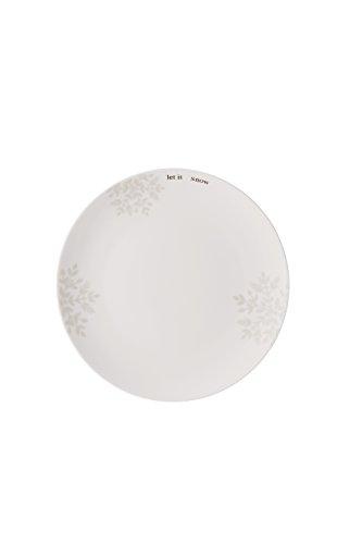 Hutschenreuther Merry Christmas Charming Assiette Plate, Porcelaine, Gris, 22 x 23 x 3 cm