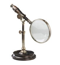 Magnifying Glass w/Stand Brnzd