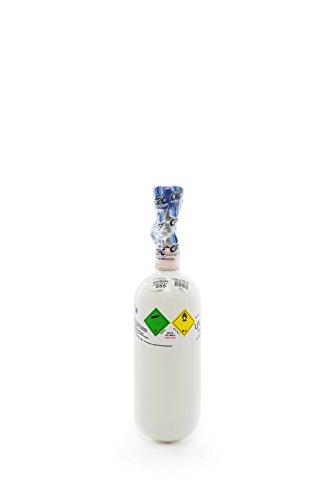 Preisvergleich Produktbild Medizinischer Sauerstoff 0, 8 Liter Flasche / Med. O2 (GOX) / NEUE Gasflasche (Eigentumsflasche),  gefüllt mit med. Sauerstoff nach AMG - 10 Jahre TÜV ab Herstelldatum,  160 Gasliter - made in EU