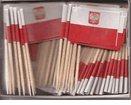 WindStrong® Box of 100Polish Polen Zahnstocher Flaggen Abendessen Flaggen Papierfähnchen Flagge Pick