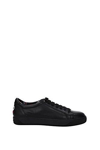 B2096004615007504999 Moncler Sneakers Femme Cuir Noir Noir
