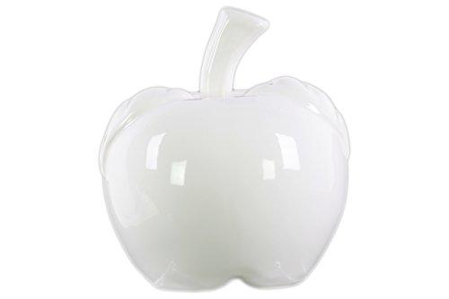 Urban Trends 50621Keramik Figur Hochglanz-Finish weiß 19,1cm Keramik Apple Figur LG-Optik weiß - 65w Apple