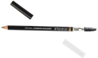 BENECOS - Eyebrow- Designer Rubio - Lápiz de cejas Para corregir y acentuar las cejas - Para una curvatura natural - Para corregir cejas irregulares - Con certificado BDIH