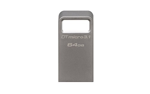 Kingston datatraveler micro 3.1 dtmc3/64gb drive usb 3.1, 64 gb, metallo