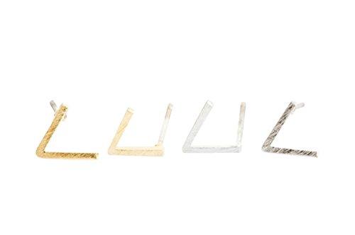 Schmuck Kawaii nette glückliche 20G Dainty Delicate Kleine Glücks Cartilage Daith Helix Mini V-geformte Dreieck Chevron Ohrstecker Piercing Ohrringe (Chevron Ohrringe Gold)