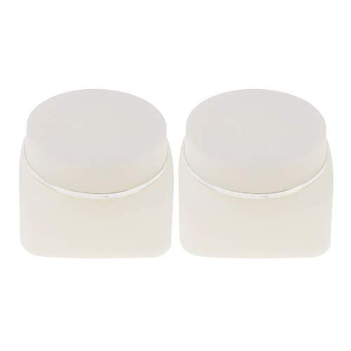 Homyl 2pcs Pot Vide Rond en Plastique Transparent avec Couvercle Cosmetic Container Rangement pour Crèmes Stockage Onguents Toners 30g 50g - 30g
